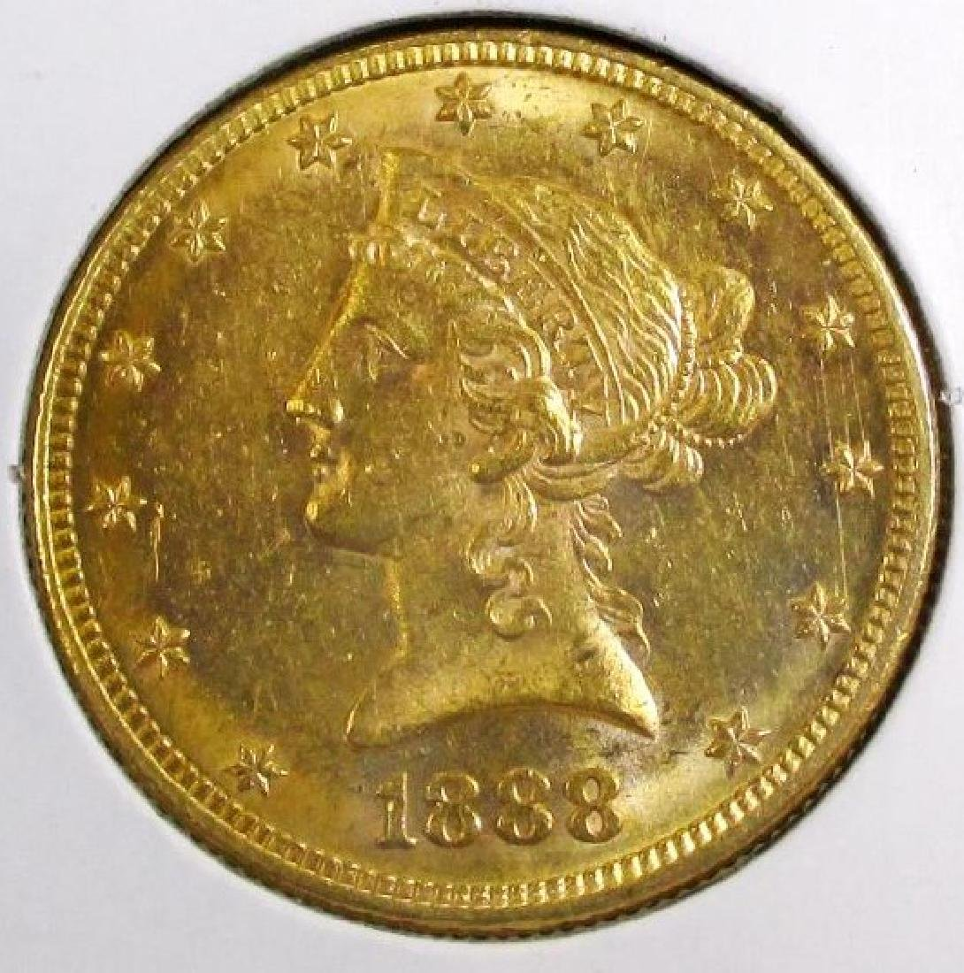 1888 S Better Date $ 10 Gold Liberty Eagle