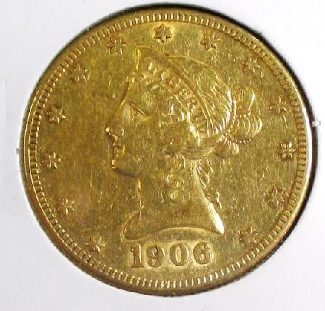 1906 S $10 Liberty Eagle XF Grade