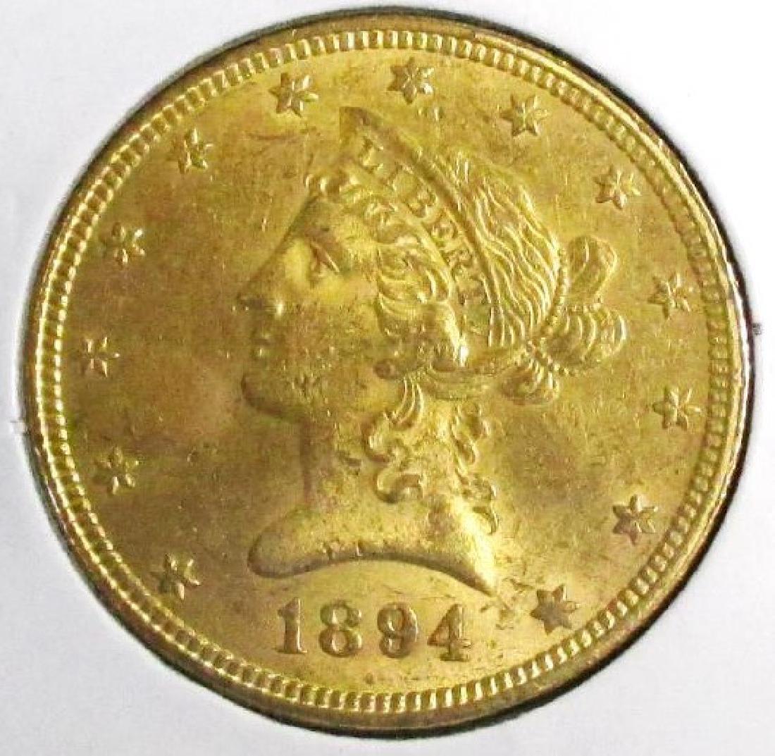 1894 AU Grade $ 10 Gold Liberty Eagle