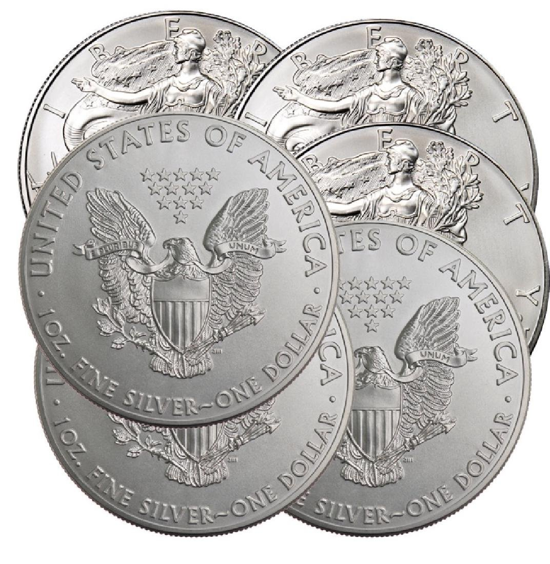 (6) US Silver Eagles- Random Dates