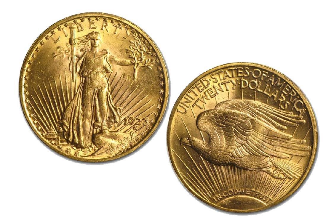 1923 $20 Gold Saint Gaudens Double Eagle