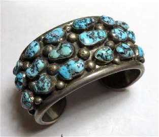 Early Indian Pawn Chunky Turq. Bracelet