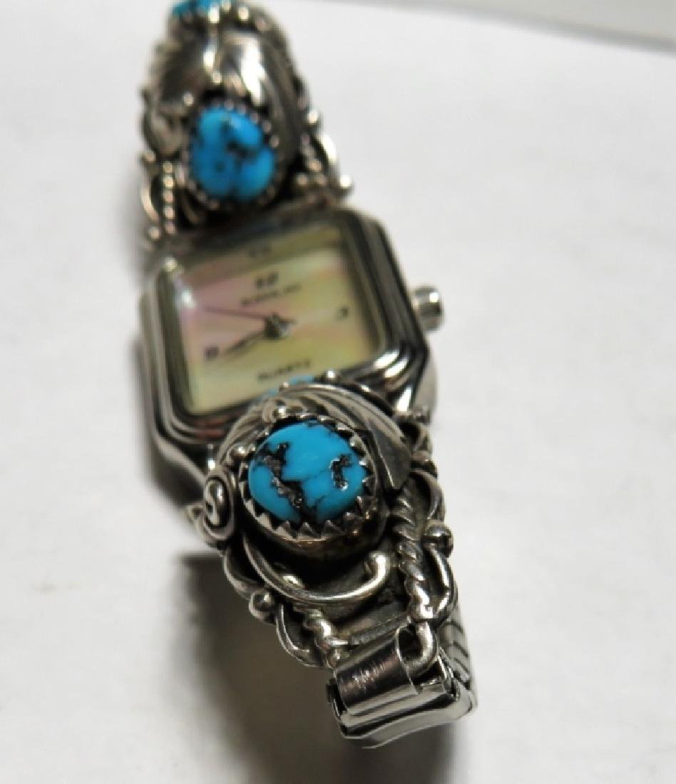 MOP Faced NAVAJO Turquoise Watch Band