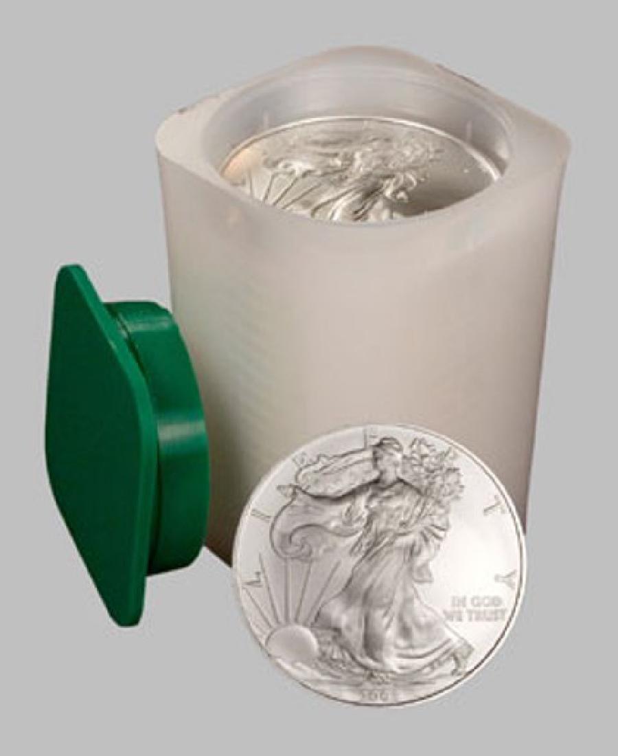 (20) US Silver Eagles - Random Dates Mint Tube