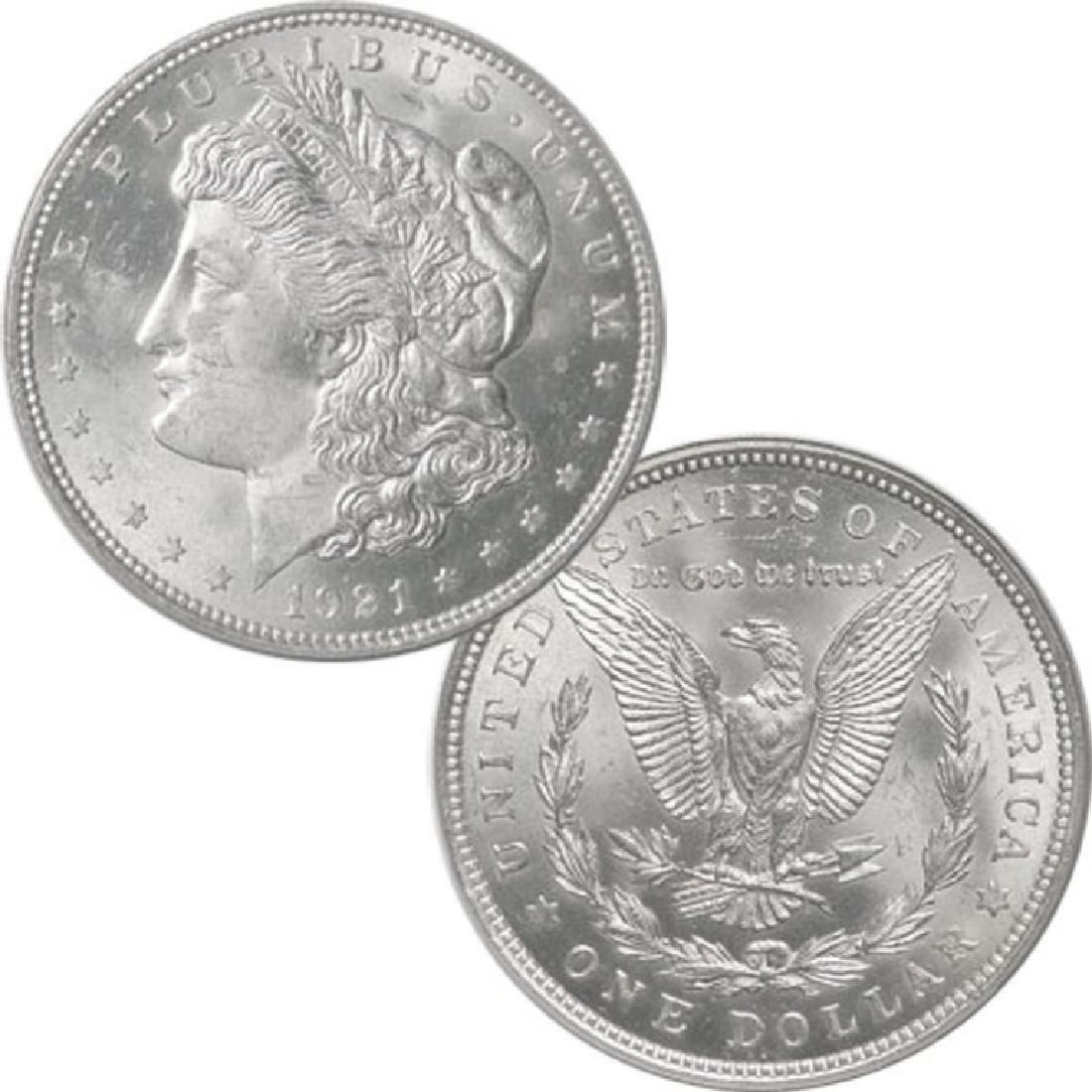 1921 Last Year Issue BU Morgan Dollar