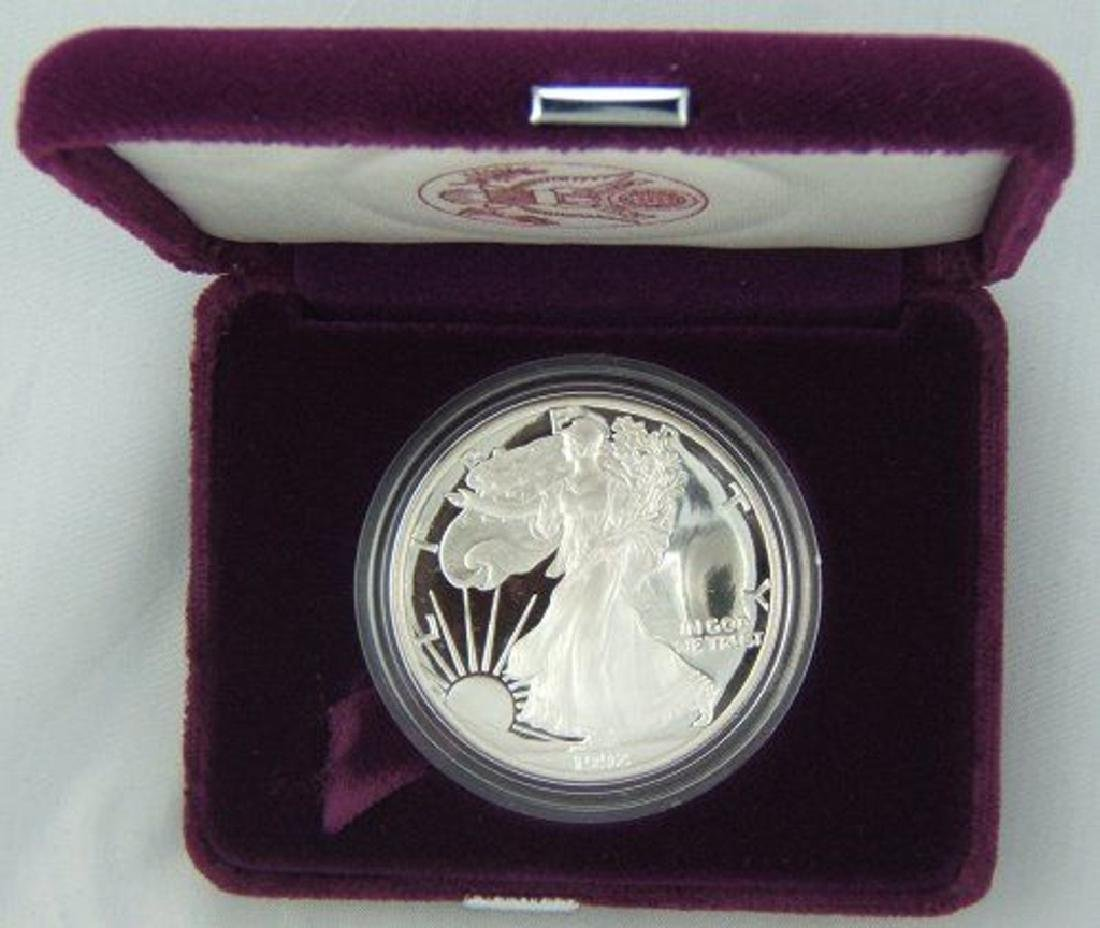 1992 S US Silver Eagle Proof - OMB