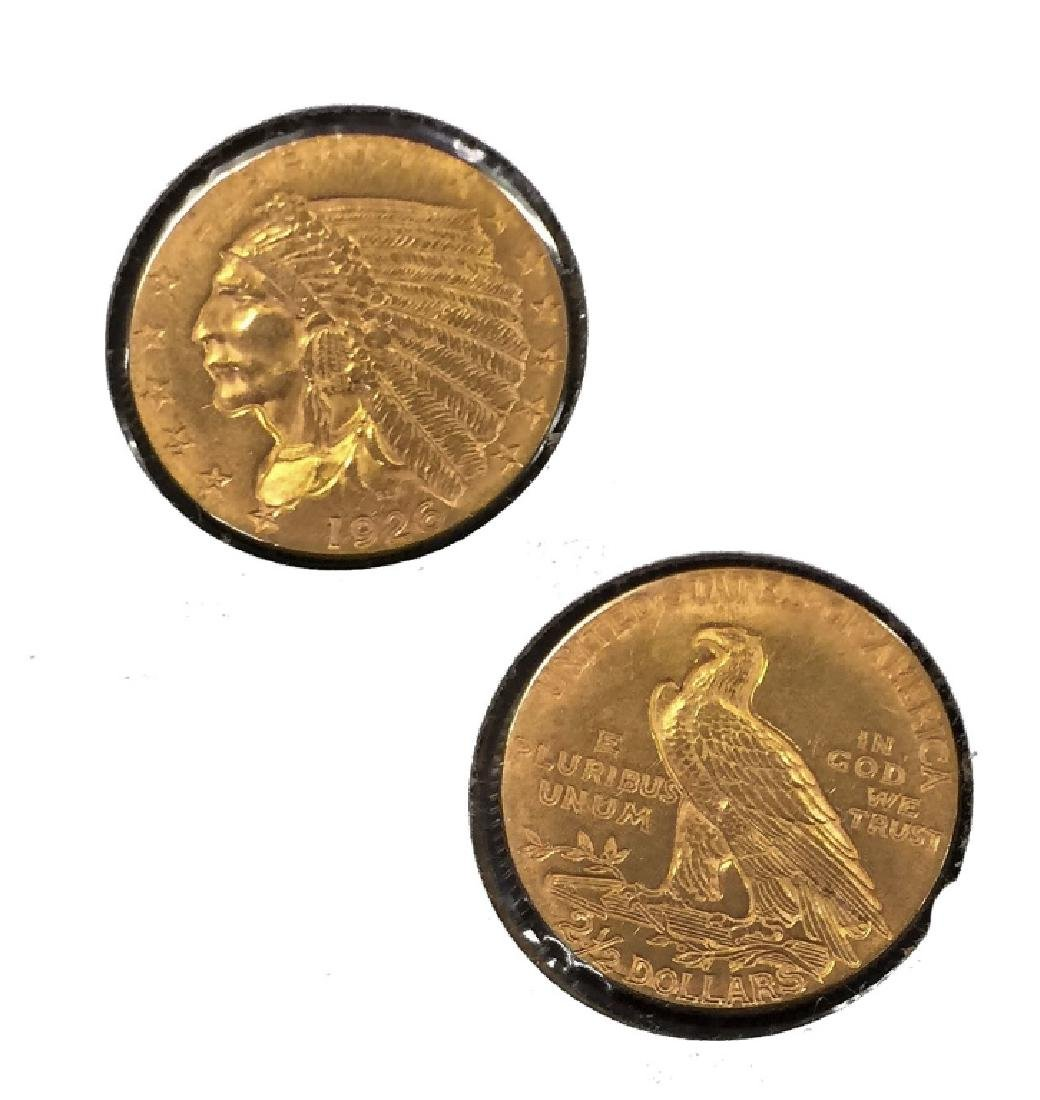 1926 $2.5 Gold Indian Head Coin