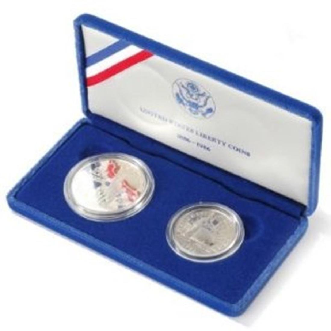 (2) Coin 1986 Statue of Liberty Set Proof