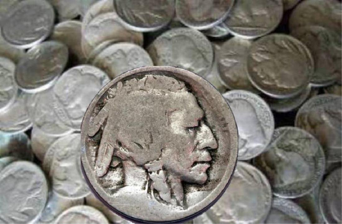 Lot of (100) ND Buffalo Nickels