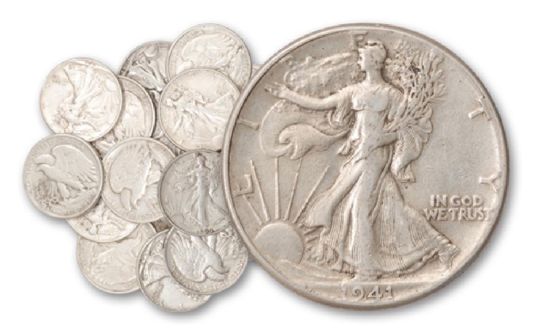 20 pcs. Walking Liberty Half Dollars