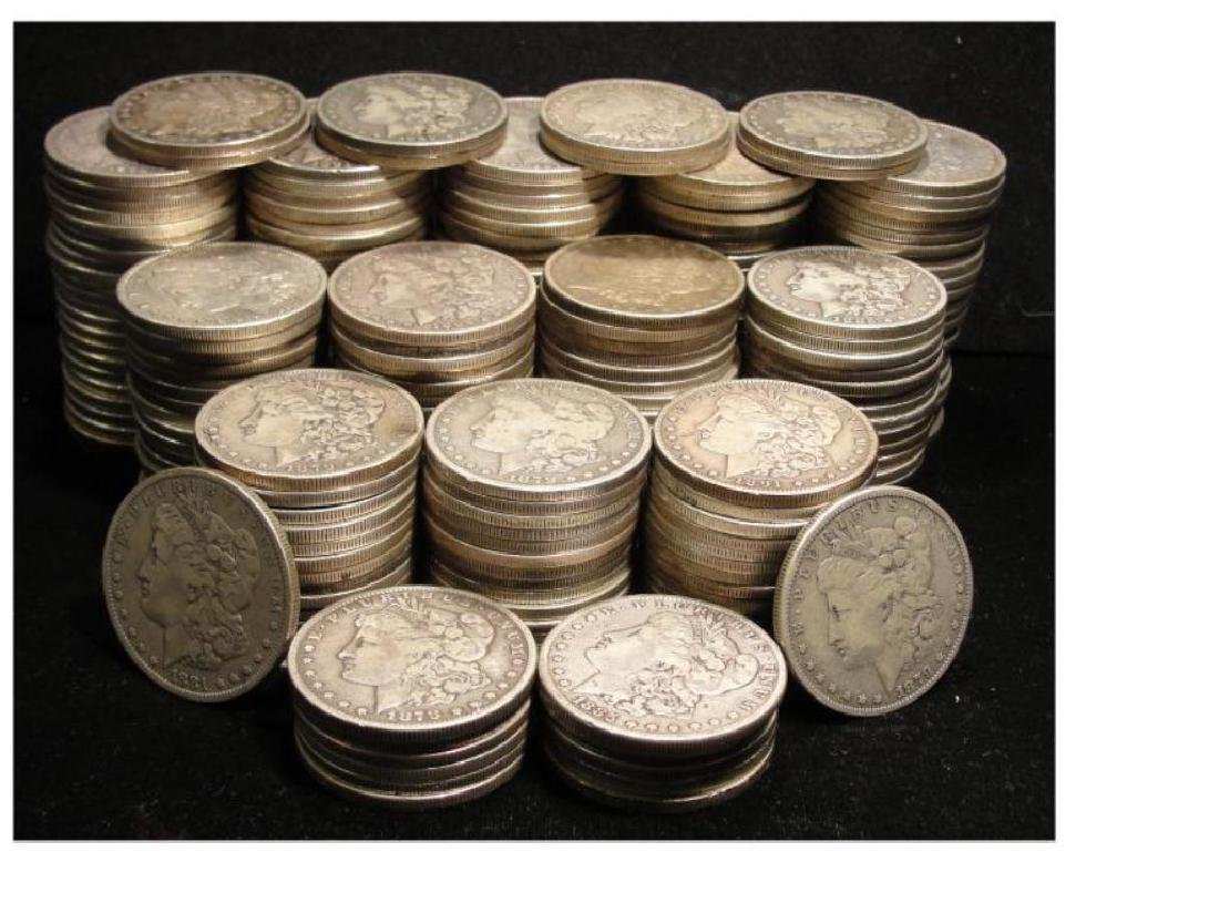 Lot of (200) Morgan Silver Dollars
