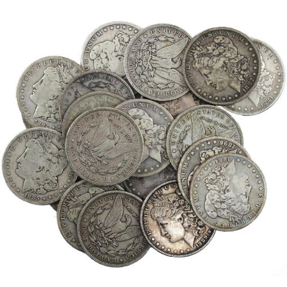 Lot of (20) Random Date Morgan Silver Dollars