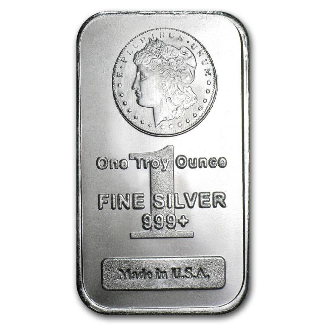 (1) 1 oz. Silver Bar Morgan Design  Pure