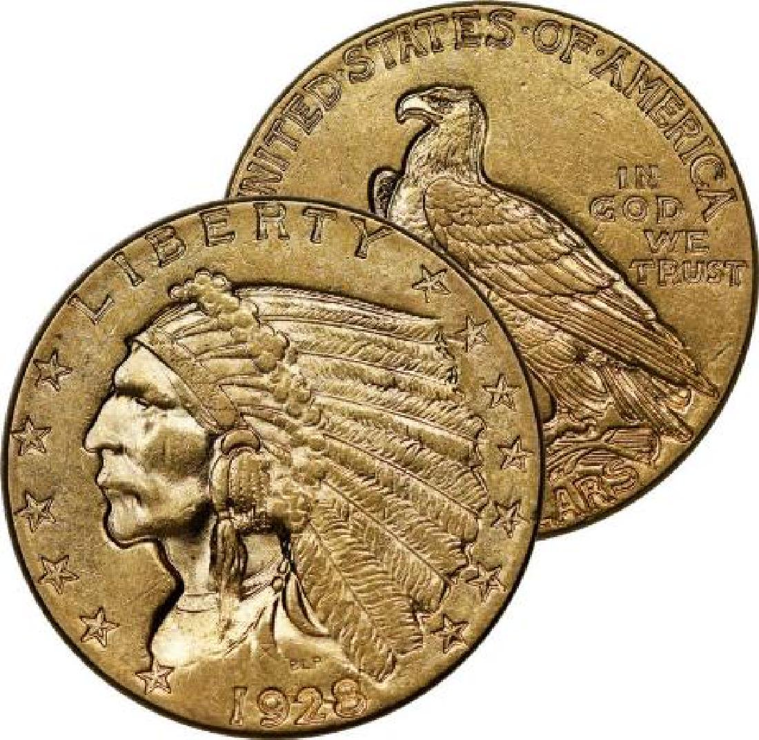 RANDOM DATE xf or better $ 2.5 Gold Indian