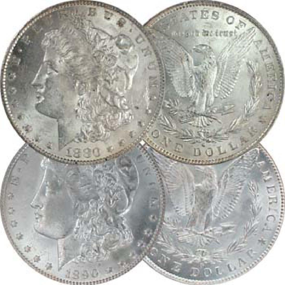 1880 O- 1900- O BU Morgan Silver Dollars