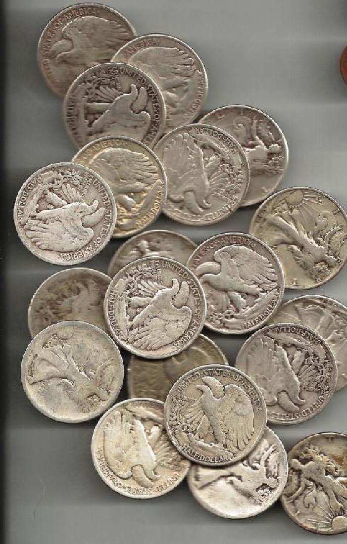 Lot of (20) Walking Liberty Half Dollars