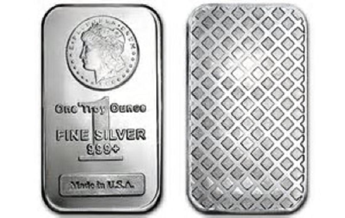 1 oz. Morgan Silver Bar - .999 pure