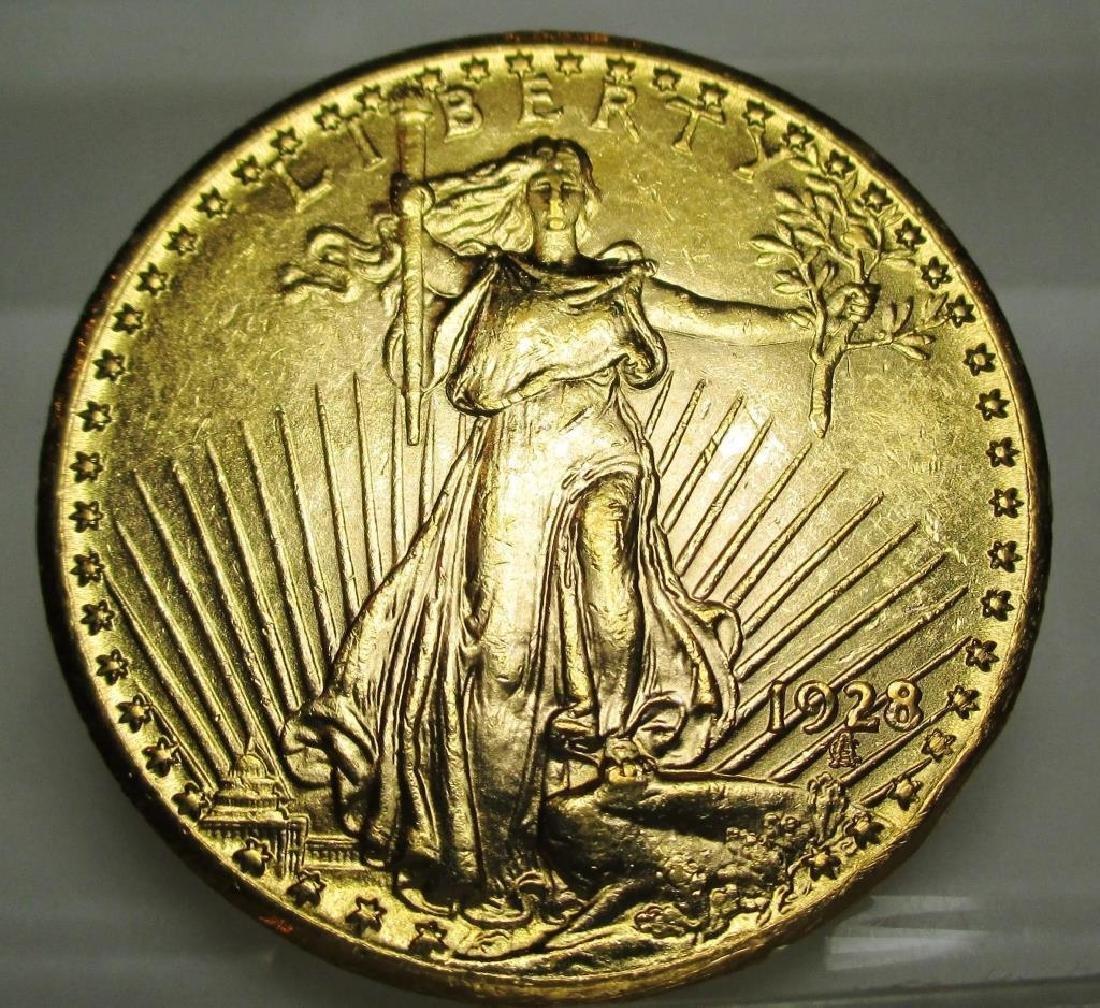 1928 $20 Gold Saint Gaudens Double Eagle
