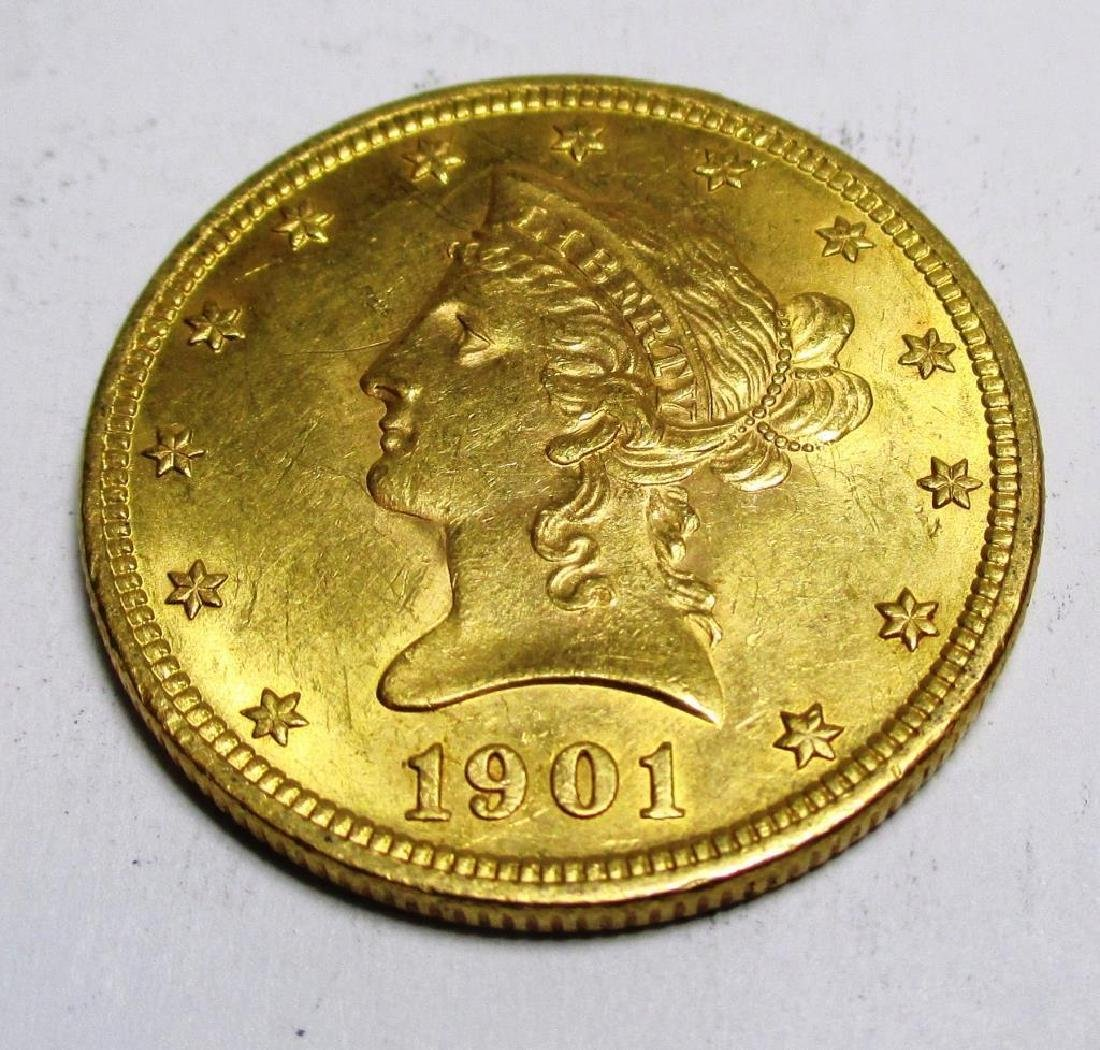1901 $10 Gold Liberty Coin