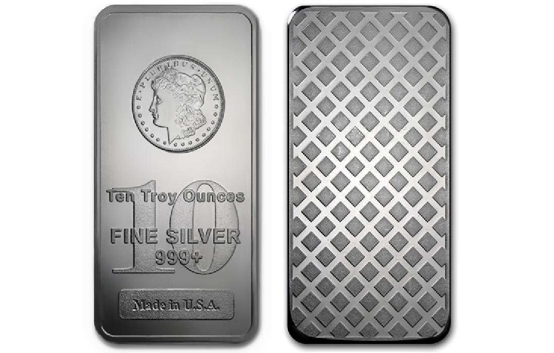 10 oz. Silver Morgan Design Silver Bar
