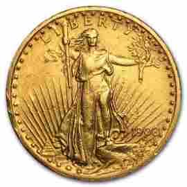 1908 WM $20 Gold Saint Gauden Double Eagle