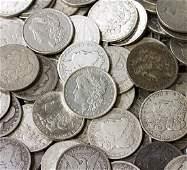 Collection of 100 Random Date/Grade Morgan Dollars