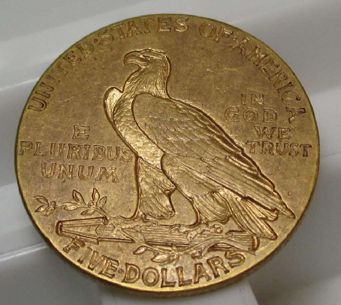 1909 $ 5 Gold Indian Half Eagle - 2