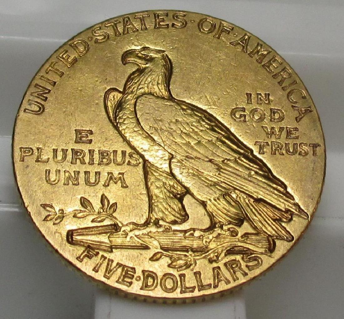 1910 S $ 5 Gold Indian Half Eagle - 2