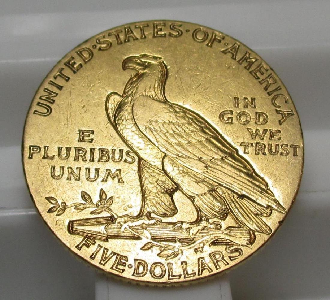 1911 S $ 5 Gold Indian Half Eagle - 2