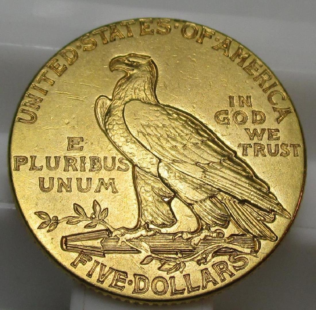 1913 $ 5 Gold Indian Half Eagle - 2