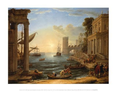 1L: Art Print by Claude Lorraine Seaport & Queen