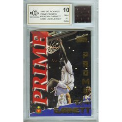 2O: Kevin Garnett Mint 10 Rookie Card/ Game Jersey