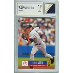 3O: Derek Jeter Mint 10 Card and Game Used Glove