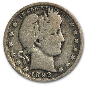 162B: Lot of 10 Barber Quarters