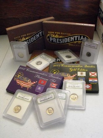 0006: Presidential Gold Commemorative Coins, Slabbed US