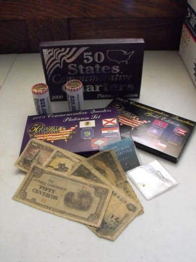 0007: 2 Rolls US Pres. Dollars, Japanese WWII Currency,