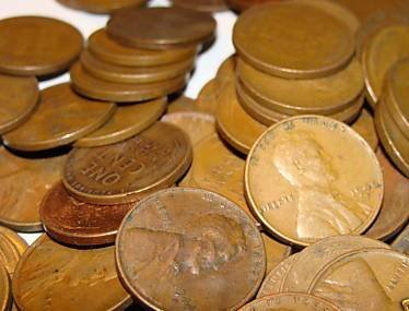 1434: Lot of 100 Wheat Back Pennies-