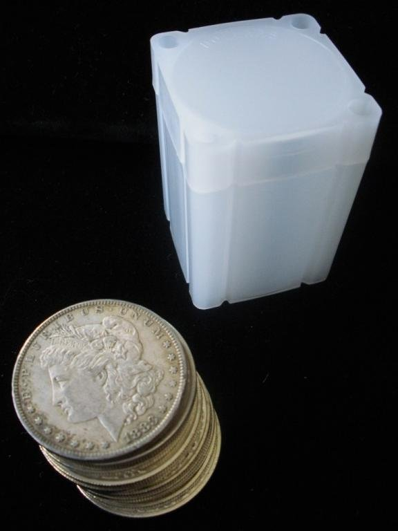 4B: Lot of 10 Morgan Silver Dollars-1921
