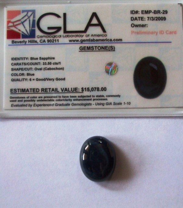3R: 33.5 Sapphire Gemstone $15078