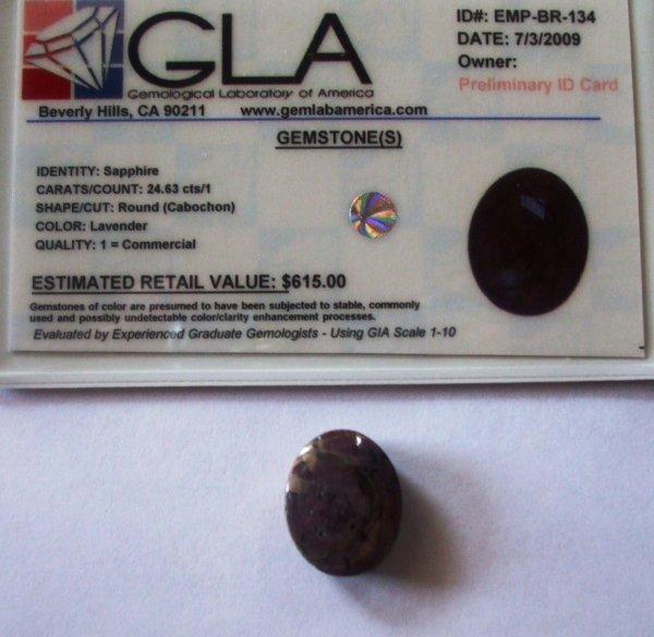8R: 24.63 Sapphire Gemstone $615