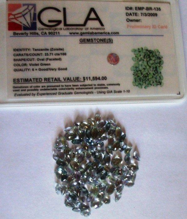 12R: 23.71 Tanzanite Gemstone $11594