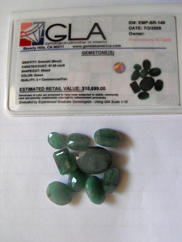 4R: 57.09 Emerald Gemstone Est- $15699
