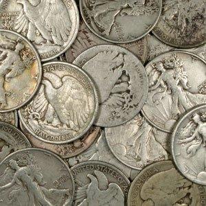 56: 20 Walking Liberty Half Dollars