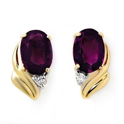 5W: 1.03 ctw Amethyst Diamond Earrings