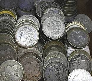 3: Random Date Morgan Dollar Choice Lot-g-au- 1 coin