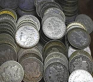 5: Random Date Morgan Dollar Choice Lot-g-au- 1 coin