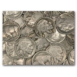 7: Lot of Buffalo Nickels-50 Coins-US File-eahy