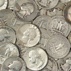 8: 100 Washington 90% Silver Quarters