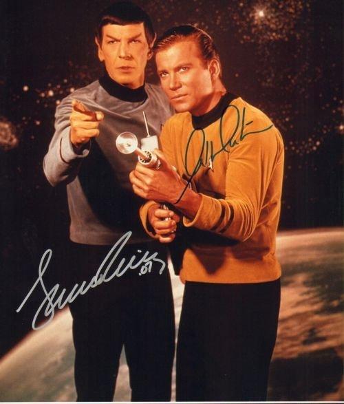 4A: William Shatner & Leonard Nimoy 11x14 Autographed-c