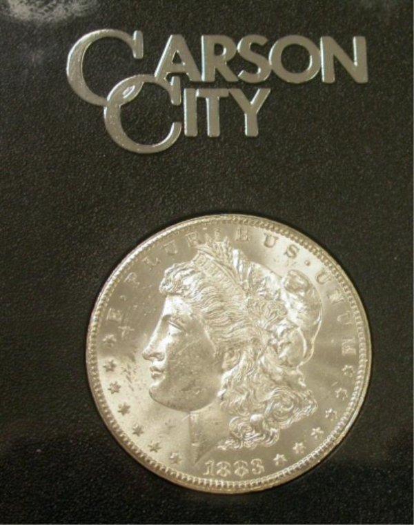 3J: 1883 GSA Morgan Carson City Dollar